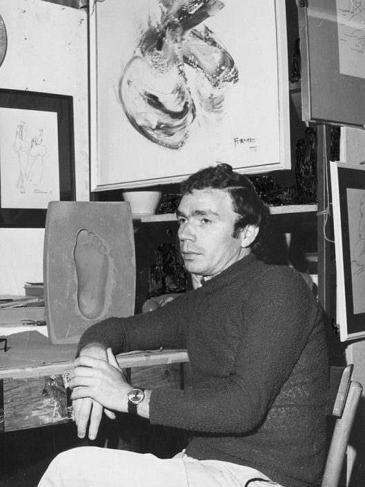 Ciro Fornaro nel suo laboratorio, 1972