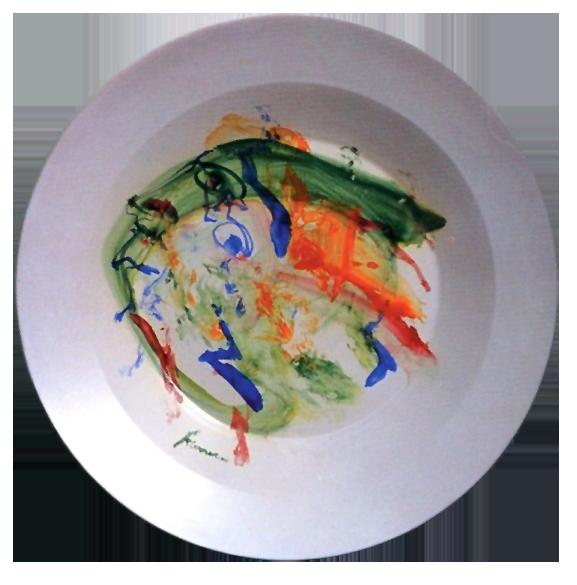 """"""" Afrodite"""" 1994: piatto in maiolica 960°, diametro cm. 60"""