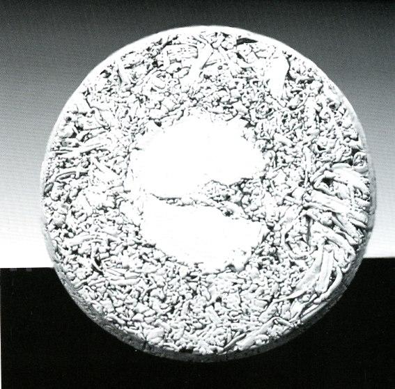 Scultura in ceramica maiolicata ,diametro cm.45, 1982