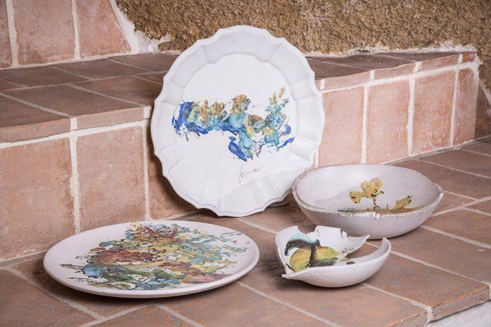 Piatti e oggettistica di design,collezione Astratto