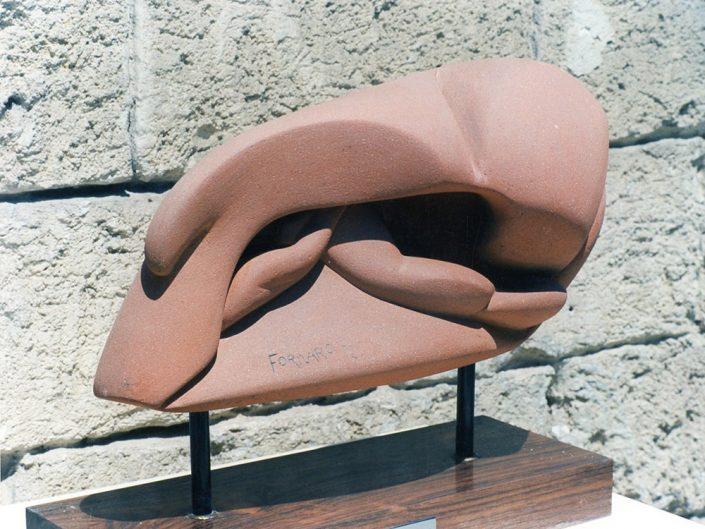 Scultura in cotto refrattario - insetto - Fornaro 1972