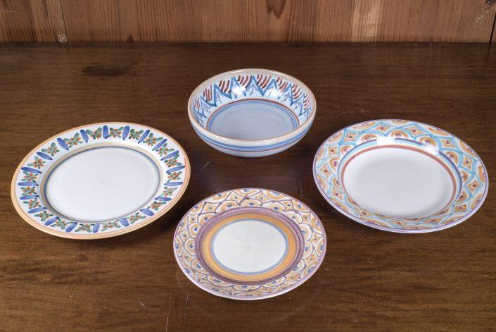 Piatti da tavola collezione Geometrico (scodella,piatto piano,piatto frutta,piatto fondo)
