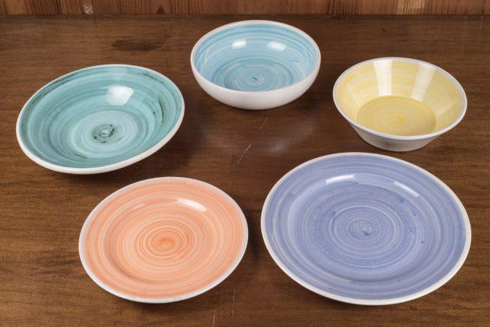 Piatti da tavola collezione Monocolore (scodella,scodella svasata,piatto piano,piatto frutta,piatto fondo)