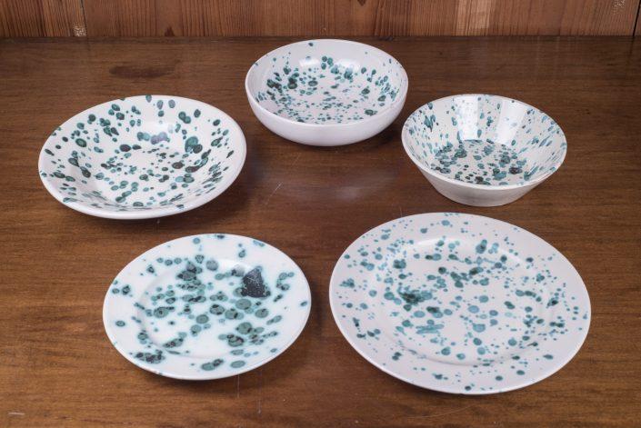 Piatti da tavola collezione Smammriato,disponibile in altri colori. (scodella,scodella svasata,piatto piano,piatto frutta,piatto fondo)